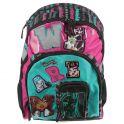 """Рюкзак школьный """"Monster High"""", цвет: черный, розовый, бирюзовый. MHCB-MT1-767"""