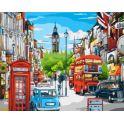 """Набор для рисования по номерам Цветной """"Лондонская улица в ярких красках"""", 40 x 50 см"""