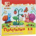 """Пластилин восковой """"Кроха"""", 12 цветов"""