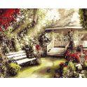 """Набор для рисования по номерам Цветной """"Беседка в саду"""", 40 х 50 см"""