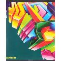 Канц-Эксмо Тетрадь Объемная абстракция 96 листов в клетку цвет бирюзовый