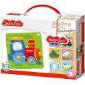 Baby Toys Пазл для малышей Зигзаг Транспорт
