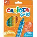 Carioca Набор смываемых восковых карандашей Baby 8 цветов