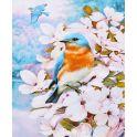 """Картина по номерам Школа талантов """"Птички в цветах"""", 2467734, 30 х 40 см"""