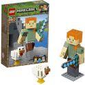LEGO Minecraft 21149 Конструктор ЛЕГО Майнкрафт Большие фигурки Minecraft, Алекс с цыплёнком