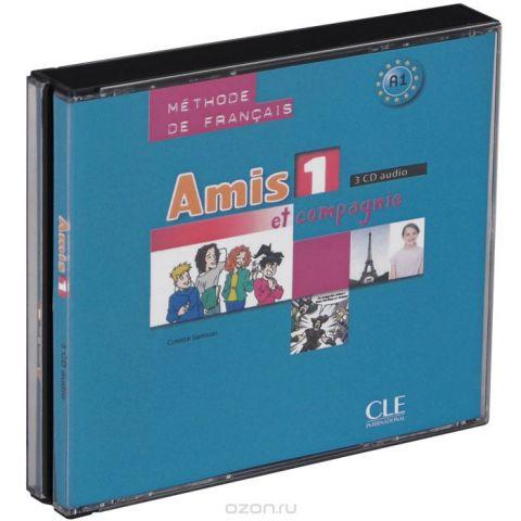 Amis et compagnie 1: Methode de Francais A1 (аудиокнига на 3 CD)