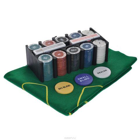 """Набор для покера """"Casino Style Poker Set"""", размер: 10х18х13 см. ГД2к"""
