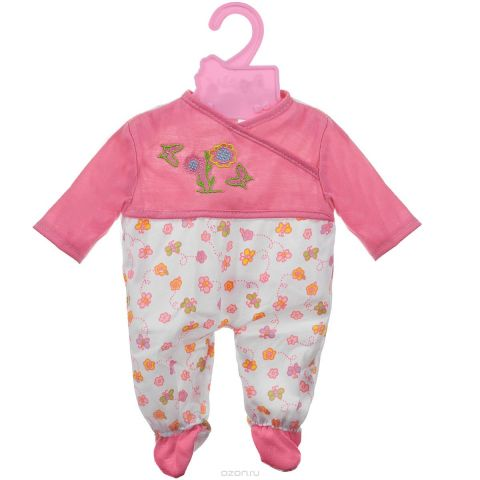 "Одежда для куклы Mary Poppins ""Комбинезон"", цвет: розовый, белый"