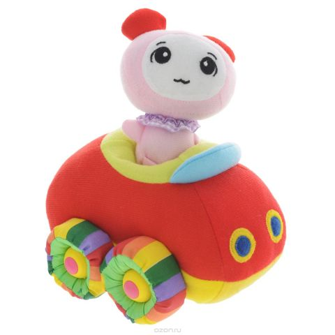 """Мягкая озвученная игрушка Tongde """"Радужный транспорт"""", с фигуркой. В72425"""