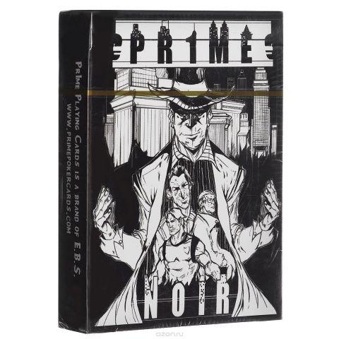 """Игральные карты """"Pr1me Noir"""", цвет: черный, белый"""