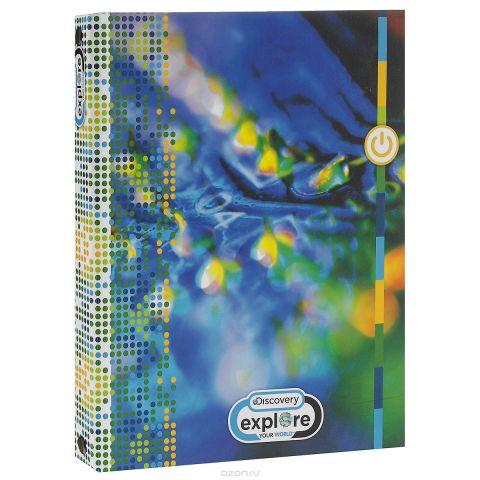 """Тетрадь на кольцах Action! """"Discovery"""", цвет: синий, желтый, 80 листов + сменный блок 80 листов"""