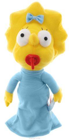 Simpsons Мягкая игрушка Мэгги Симпсон цвет желтый голубой 27 см