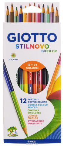 Giotto Набор цветных карандашей Stilnovo Bicolor Ast 12 штук