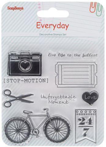 "Набор декоративных штампов ScrapBerry's ""День за днем. Стоп-кадр"", 9 шт"