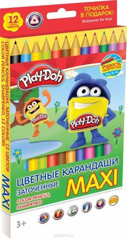Play-Doh Набор цветных карандашей Maxi 12 цветов