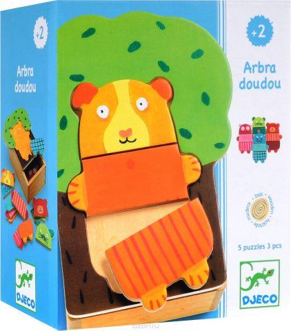 Djeco Пазл для малышей Деревянные зверюшки