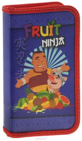Action! Пенал Fruit Ninja цвет синий красный