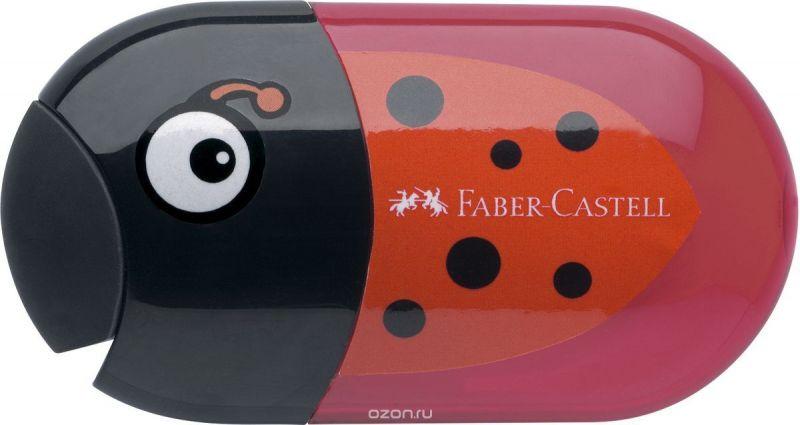 Faber-Castell Точилка с контейнером и ластиком Божья коровка