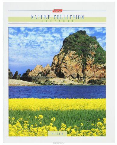 Hatber Тетрадь River 80 листов в клетку цвет темно-синий желтый зеленый