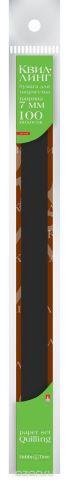 Альт Бумага для квиллинга 7 мм 100 полос цвет черный