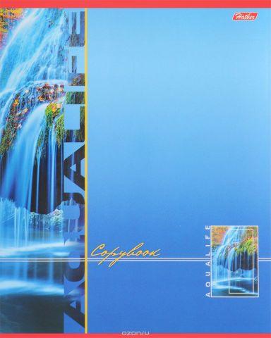 Hatber Тетрадь Аквалайф 80 листов в линейку цвет голубой
