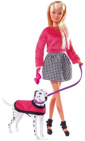 Simba Кукла Штеффи на прогулке с далматинцем
