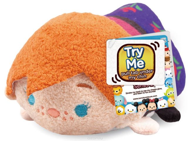 Tsum Tsum Мягкая озвученная игрушка Анна 13 см