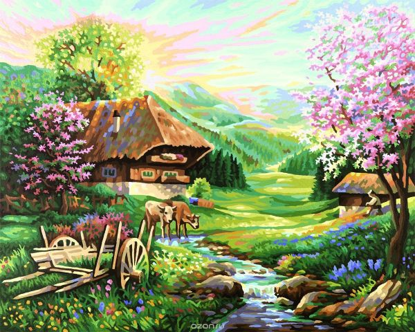 "Набор для рисования по номерам Schipper ""Весна"", 40 х 50 см"
