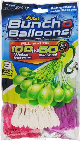 Zuru Водяное оружие Bunch O Balloons цвет розовый белый фиолетовый