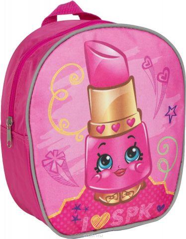 Shopkins Рюкзак дошкольный для девочки цвет розовый золотистый
