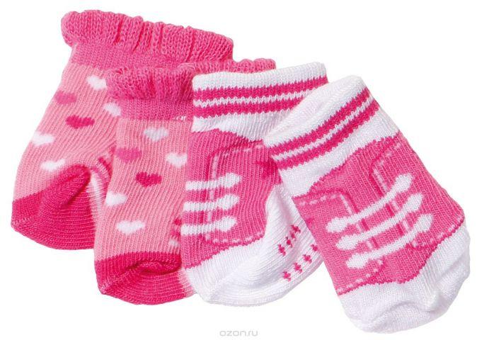 Baby Born Носочки 2 пары цвет розовый