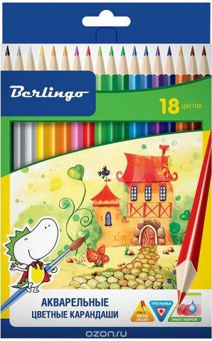 Berlingo Набор акварельных карандашей Сказочный город 18 цветов