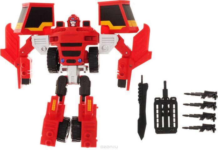 Склад уникальных товаров Робот-трансформер Погрузчик с Пушкой XXL цвет красный