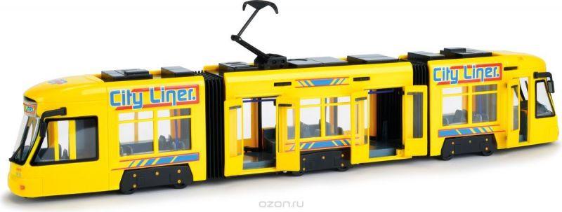 Dickie Toys Городской трамвай цвет желтый