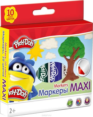 Play-Doh Набор фломастеров Mega Jumbo 10 шт PDEB-US1-14MB-10