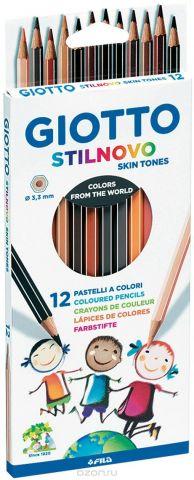 Giotto Набор цветных карандашей Stilnovo 12 шт
