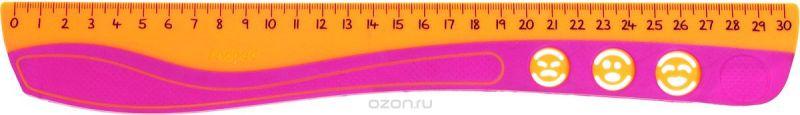 Maped Линейка Kidi Grip цвет оранжевый розовый 30 см