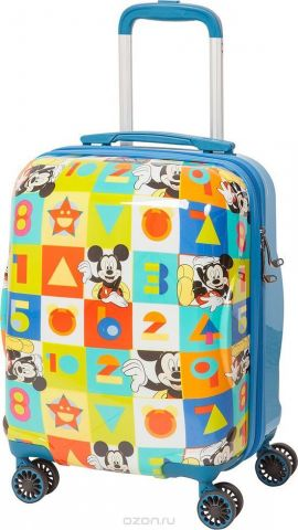 "Чемодан детский Sun Voyage ""Disney. Mickey"", на колесах, цвет: синий, мультиколор, 33 л"