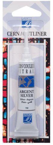 """Контур по стеклу и керамике без обжига Lefranc & Bourgeois """"Outliner"""", цвет: серебряный (710), 20 мл"""