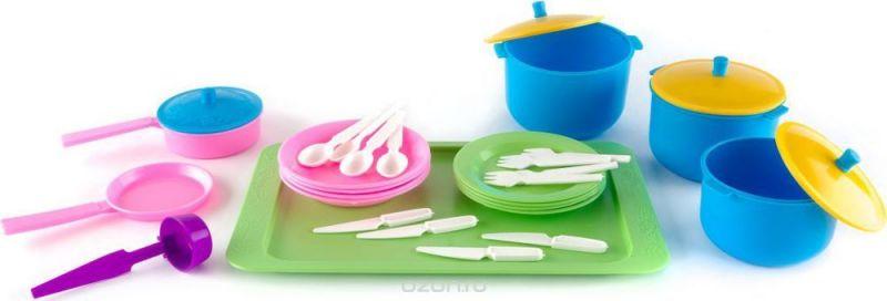 Пластмастер Игровой набор посуды Вкусный ужин