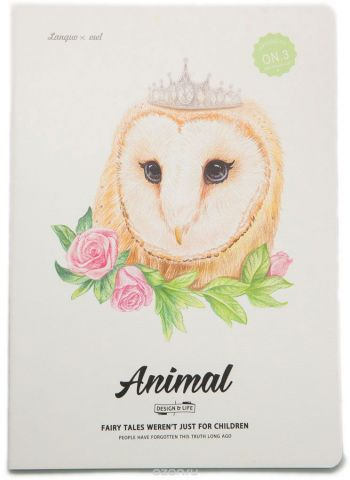 Еж-стайл Тетрадь Animal Owl 3 44 листа в линейку