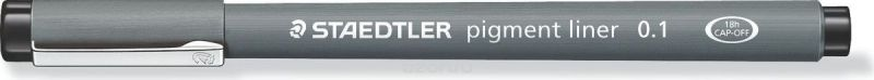 Staedtler Ручка капиллярная Pigment Liner 0,1 мм цвет чернил черный