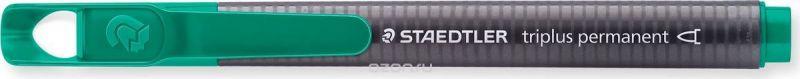 Staedtler Маркер перманентный Triplus 1-2 мм цвет чернил зеленый