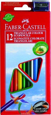 Faber-Castell Набор цветных карандашей Eco с точилкой 12 шт