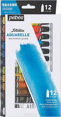 Pebeo Акварель набор Studio Aquarelle 12 цветов 668400 12 мл