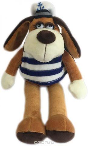 Teddy Мягкая игрушка Собака в тельняшке 18 см