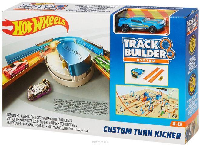 Hot Wheels Track Builder Игрушечный трек Custom Turn Kicker