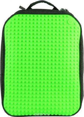 Upixel Пиксельный рюкзак большой ортопедическая спинка цвет зеленый