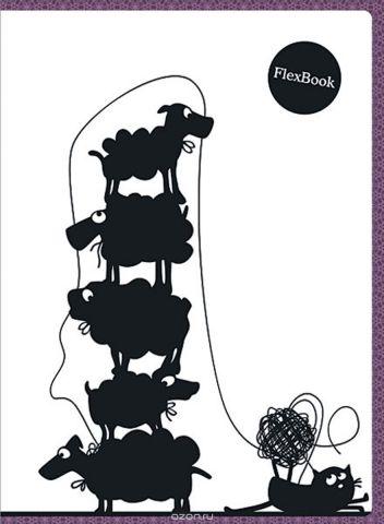 Expert Complete Тетрадь Animals 80 листов в клетку цвет белый черный бордовый формат A4