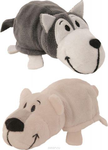 1TOYМягкая игрушкаВывернушка 2в1 Хаски-Полярный медведь 12 см